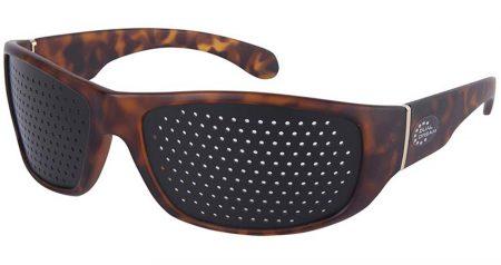 Dual Dream ® Occhiali stenopeici Fasciante Turtle | Dispositivo medico occhiali forati di ginnastica oculare
