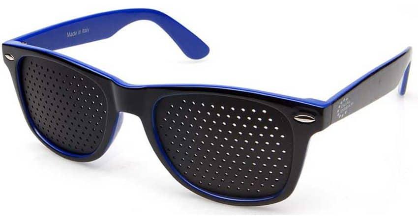 Dual Dream ® Occhiali stenopeici Classic blue | Dispositivo medico per ginnastica oculare