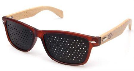 Dual Dream ® Occhiali stenopeici Wood F | dispositivo medico CE per il rilassamento e la rieducazione visiva