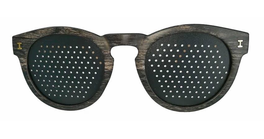 occhiali stenopeici Trend bisolore scuro (vista fronte)