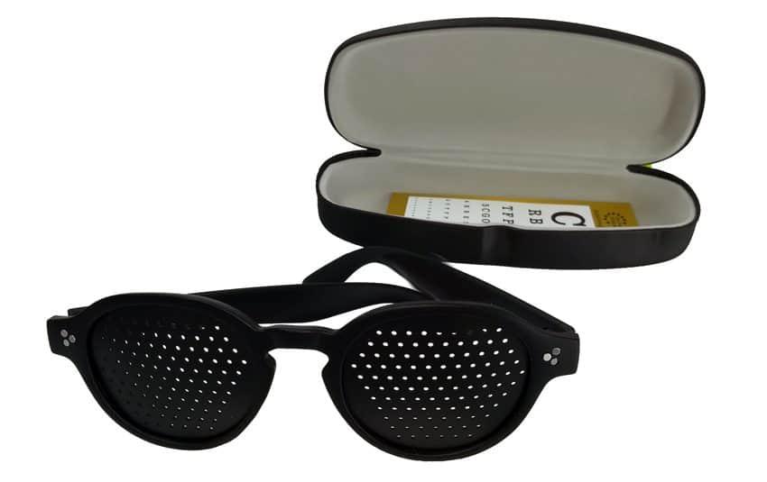 Occhiali stenopeici modello Geos black Dual Dream con astuccio