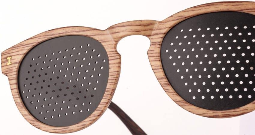 Trend Zebrano Chiaro Dual Dream - particolare occhiali stenopeici
