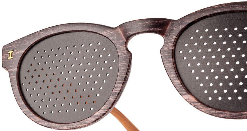 Occhiali stenopeici Trend Zebrano scuro Dual Dream Dispositivo medico - Particicolare schermi